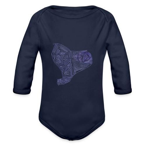 Cuor di Tartaruga Cuore Armato - Body ecologico per neonato a manica lunga