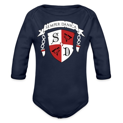 SD logo - hvide lænker - Langærmet babybody, økologisk bomuld