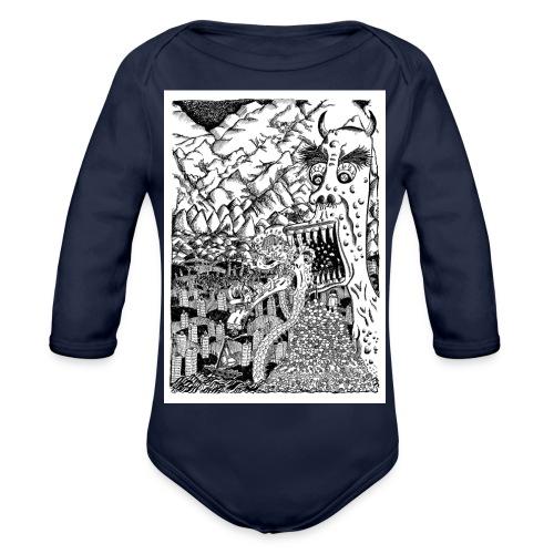 Sea Monsters T-Shirt by Backhouse - Organic Longsleeve Baby Bodysuit