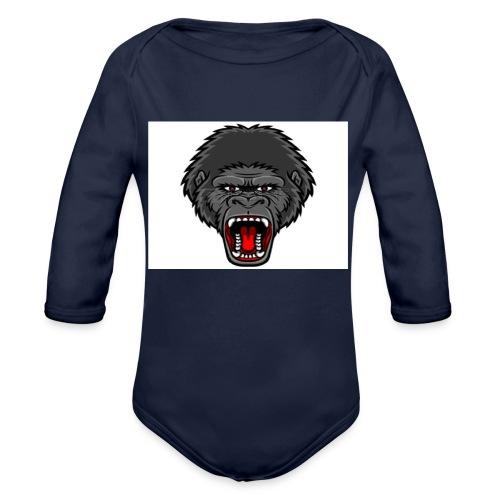 gorilla - Baby bio-rompertje met lange mouwen