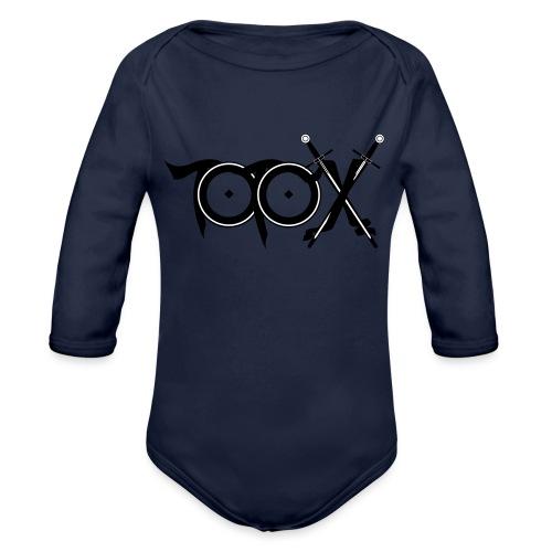 TotoX Logo sw - Baby Bio-Langarm-Body