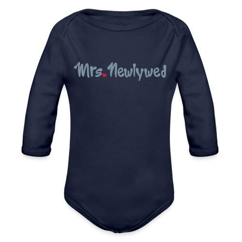 Mrs Newlywed - Organic Longsleeve Baby Bodysuit