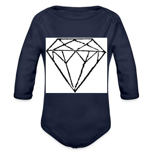 Diamond - Ekologisk långärmad babybody