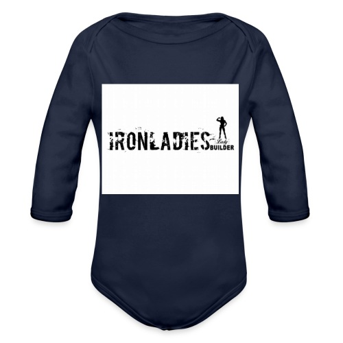 IRONLADIES.LOGO, - Body ecologico per neonato a manica lunga