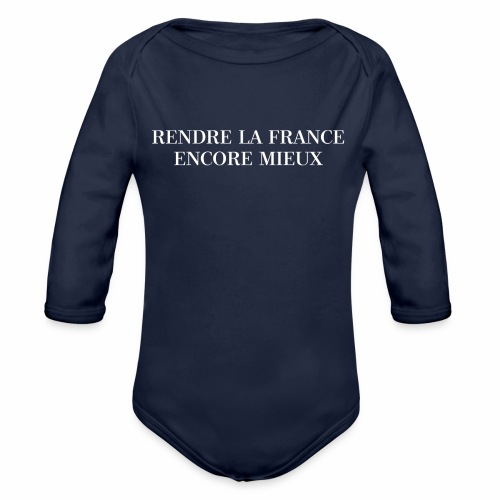 RENDRE LA FRANCE ENCORE MIEUX - Body Bébé bio manches longues