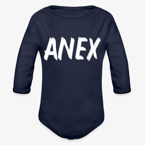 V-neck T-Shirt Anex white logo - Organic Longsleeve Baby Bodysuit