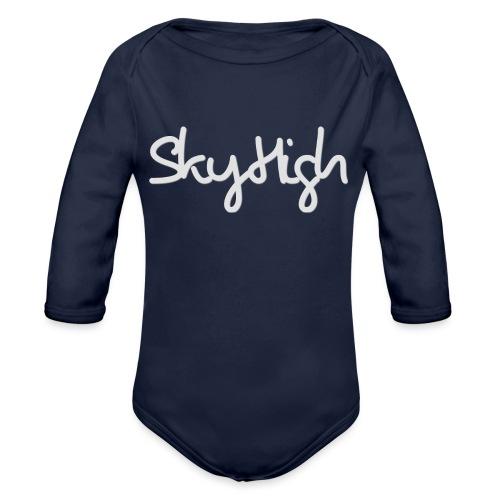 SkyHigh - Women's Hoodie - Gray Lettering - Organic Longsleeve Baby Bodysuit