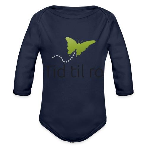 Tid til ro - Langærmet babybody, økologisk bomuld
