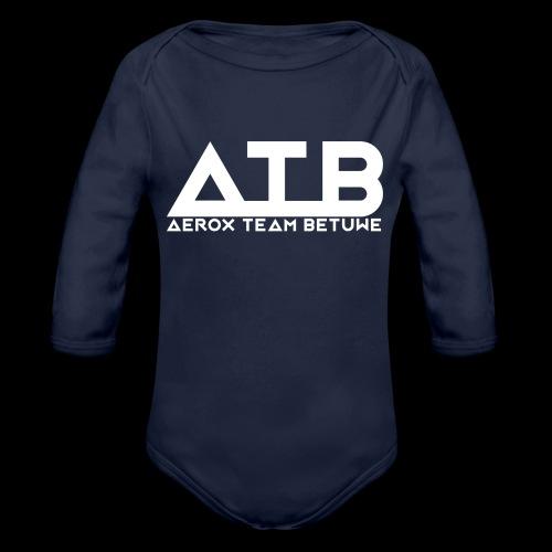 ATB White Teddy - Baby bio-rompertje met lange mouwen