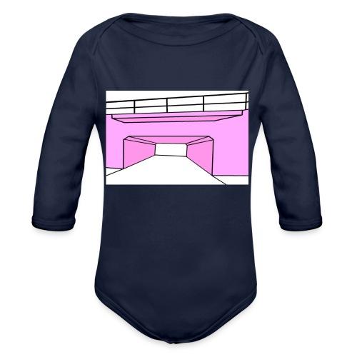 Pink Tunnel - Ekologisk långärmad babybody