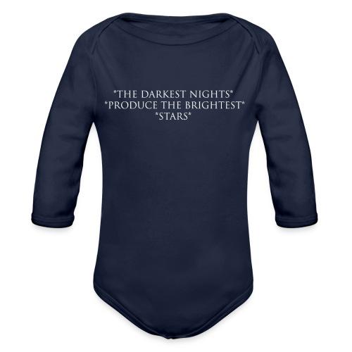 Night_W - Ekologisk långärmad babybody