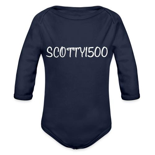 Scotty1500 Hoodie (Black) - Organic Longsleeve Baby Bodysuit