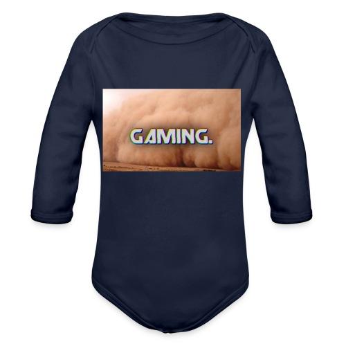 GamingDust LOGO - Organic Longsleeve Baby Bodysuit
