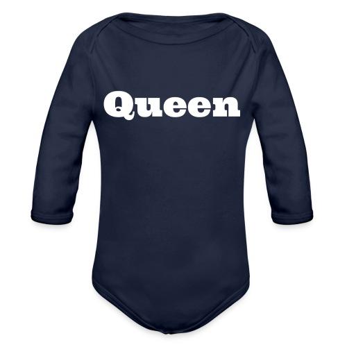 Snapback queen zwart/blauw - Baby bio-rompertje met lange mouwen