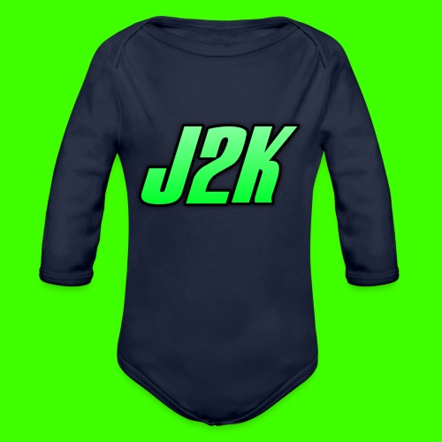 kids official j2k shirts! - Organic Longsleeve Baby Bodysuit