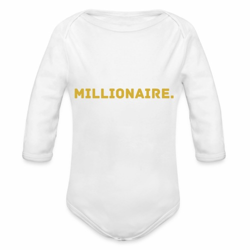 Millionaire. GOLD Edition - Organic Longsleeve Baby Bodysuit