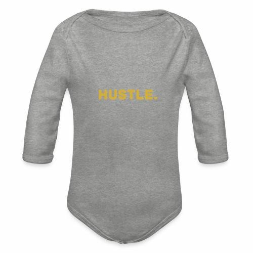 Millionaire.XHustle. GOLD EDITION - Organic Longsleeve Baby Bodysuit