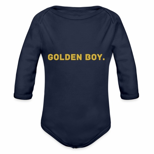 Millionaire. X GOLDEN BOY. - Organic Longsleeve Baby Bodysuit