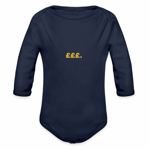 Millionaire. X £££. - Organic Longsleeve Baby Bodysuit