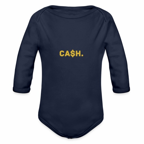 Millionaire. X Ca $ h. - Organic Longsleeve Baby Bodysuit