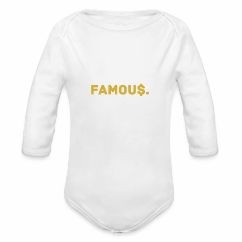 Millionaire. X Famou $. - Organic Longsleeve Baby Bodysuit