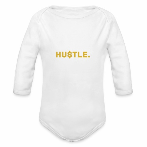 Millionaire. X HU $ TLE - Organic Longsleeve Baby Bodysuit