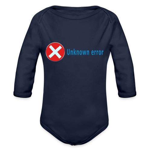 Unkown Error - Vauvan pitkähihainen luomu-body