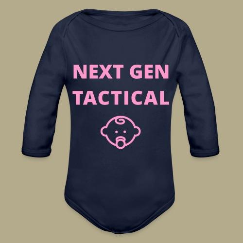 Tactical Baby Girl - Baby bio-rompertje met lange mouwen