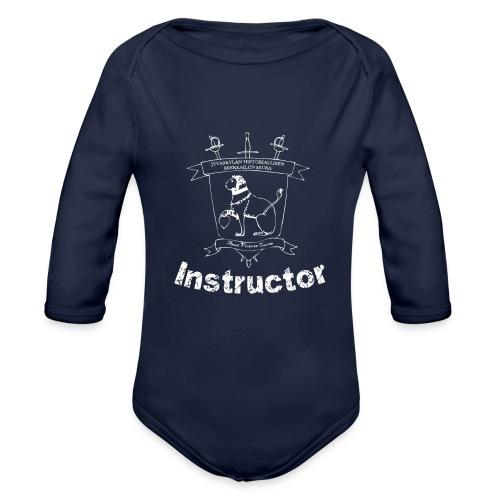 Ohjaajien paita, naisten malli - Vauvan pitkähihainen luomu-body