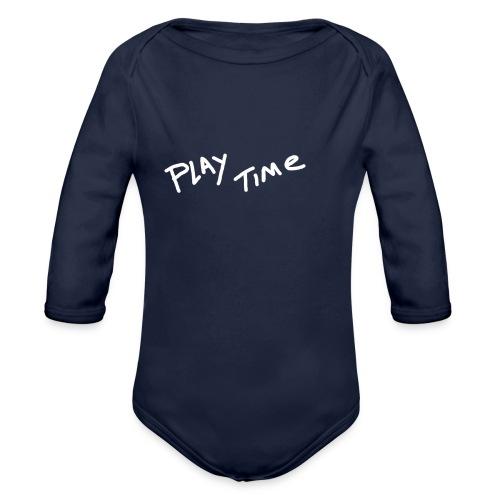 Play Time Tshirt - Organic Longsleeve Baby Bodysuit