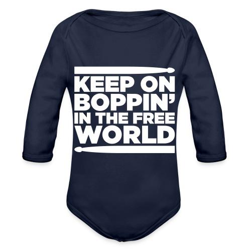 Keep on Boppin' - Organic Longsleeve Baby Bodysuit
