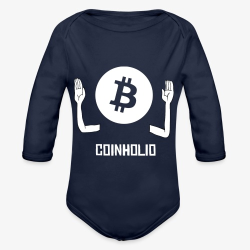 HODL coin holio-w - Organic Longsleeve Baby Bodysuit