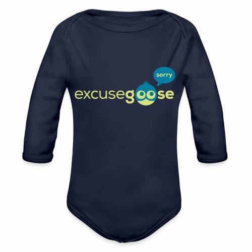 excusegoose 01 - Baby Bio-Langarm-Body