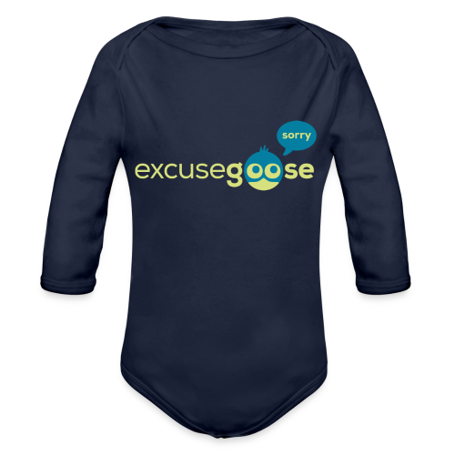excusegoose 01 - Baby Bio-Langarm-Body