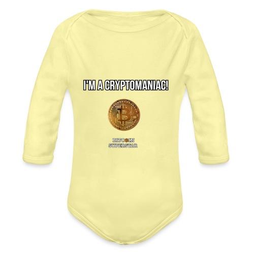 I'm a cryptomaniac - Body ecologico per neonato a manica lunga