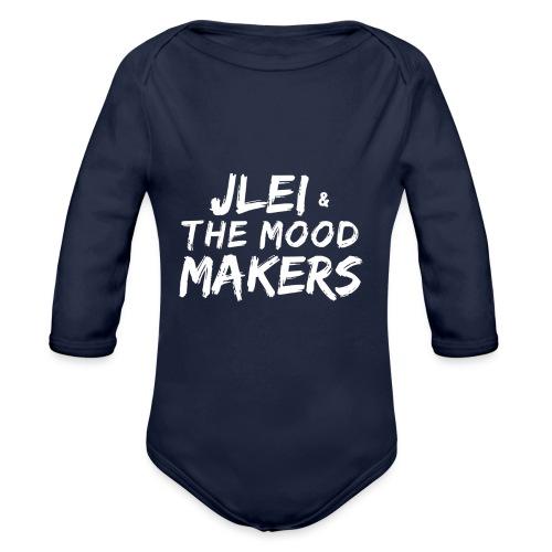 Jlei & The Mood Makers Schriftzug Weiss - Baby Bio-Langarm-Body
