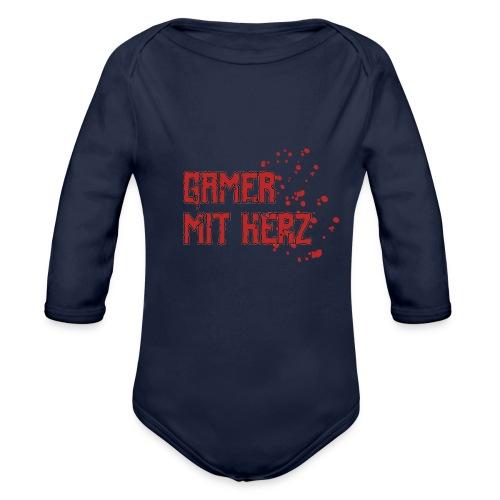 Gamer with heart - Organic Longsleeve Baby Bodysuit