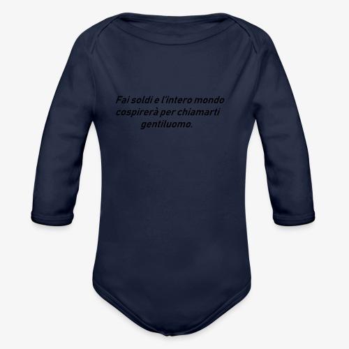 RICCHEZZA - Body ecologico per neonato a manica lunga