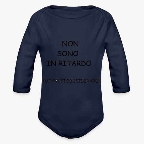 Non è ritardo. - Body ecologico per neonato a manica lunga