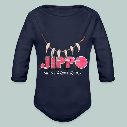 jippomestari_pink - Vauvan pitkähihainen luomu-body