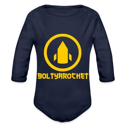Bolt Ya Rocket - Organic Longsleeve Baby Bodysuit