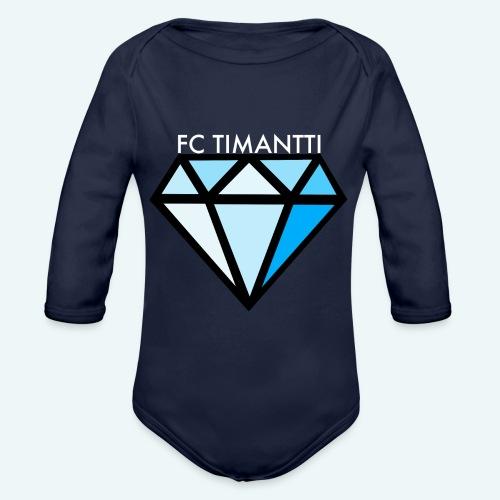 FCTimantti logo valkteksti futura - Vauvan pitkähihainen luomu-body