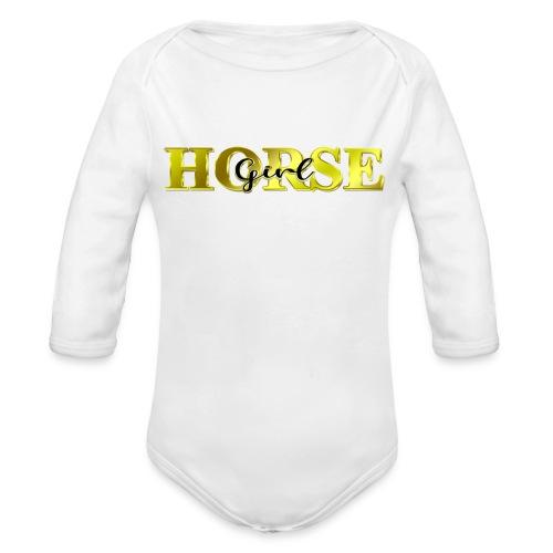 Horsegirl Reiten Pferde Geschenk - Baby Bio-Langarm-Body