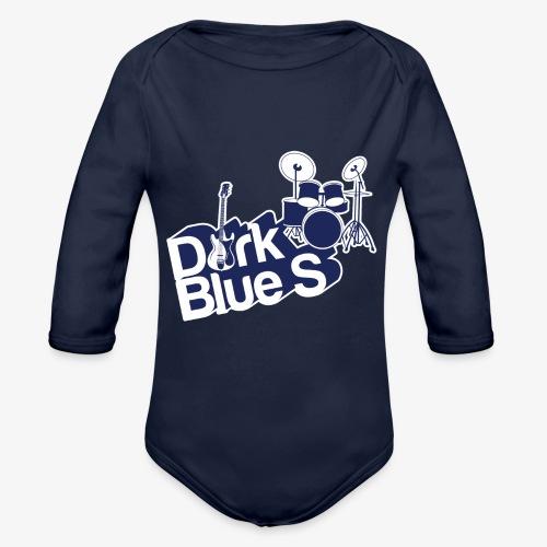 DarkBlueS outline gif - Organic Longsleeve Baby Bodysuit