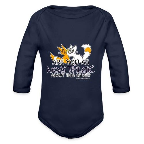 Nostalgia Hurts - Organic Longsleeve Baby Bodysuit