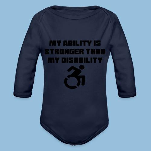Ability2 - Baby bio-rompertje met lange mouwen