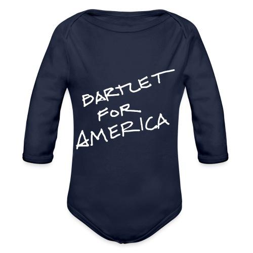 Bartlet For America - Organic Longsleeve Baby Bodysuit
