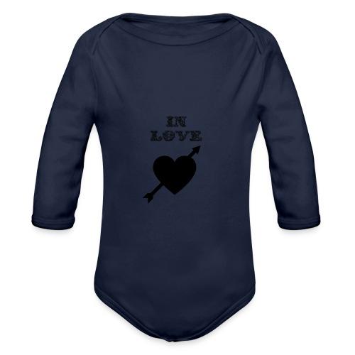 I'm In Love - Body ecologico per neonato a manica lunga