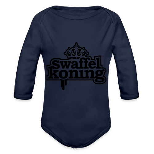 SwaffelKoning - Baby bio-rompertje met lange mouwen