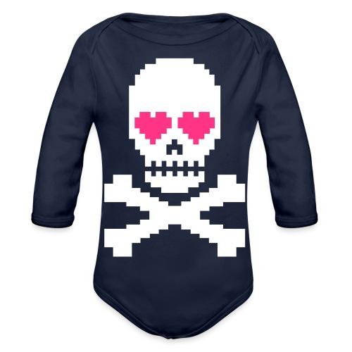 Skull Love - Baby bio-rompertje met lange mouwen